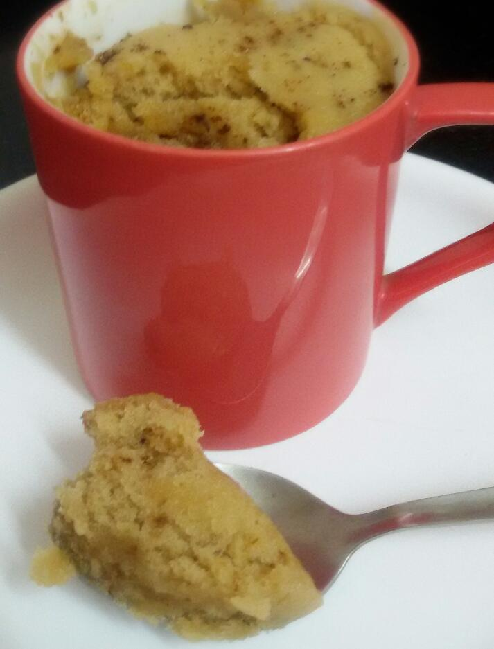 Min Microwave Coffee Cake In A Coffee Cup