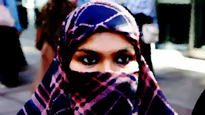 image of woman in a niqab