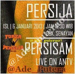 Persija vs Persisam (ISL) Indonesia Super League 2013, Minggu 6 Januari 2013.