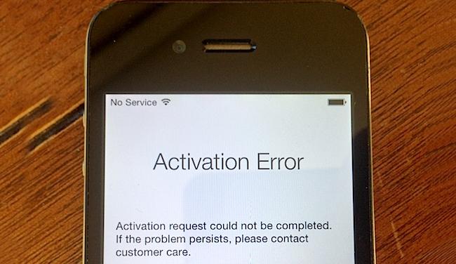 iphone activation error fix