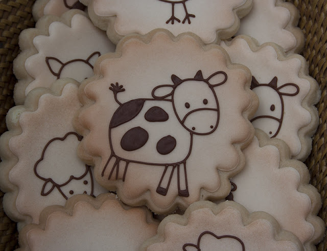 Vintage baby shower cookie favors