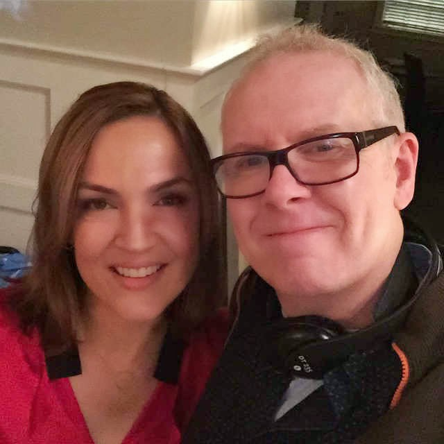 Lesley Fera and Norman Buckley on PLL Set