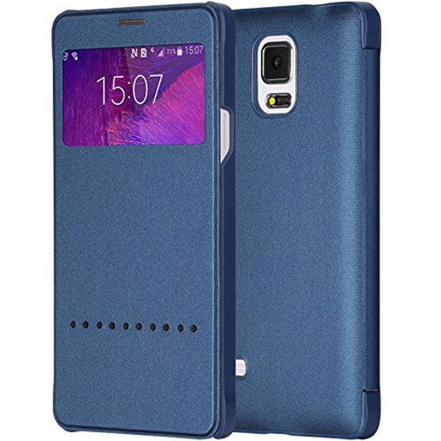เคส Note 4 ฝาพับ Rock แท้ 143031 สีน้ำเงิน