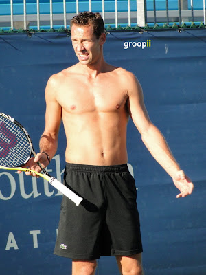 Michael Llodra Shirtless at Cincinnati Open 2010