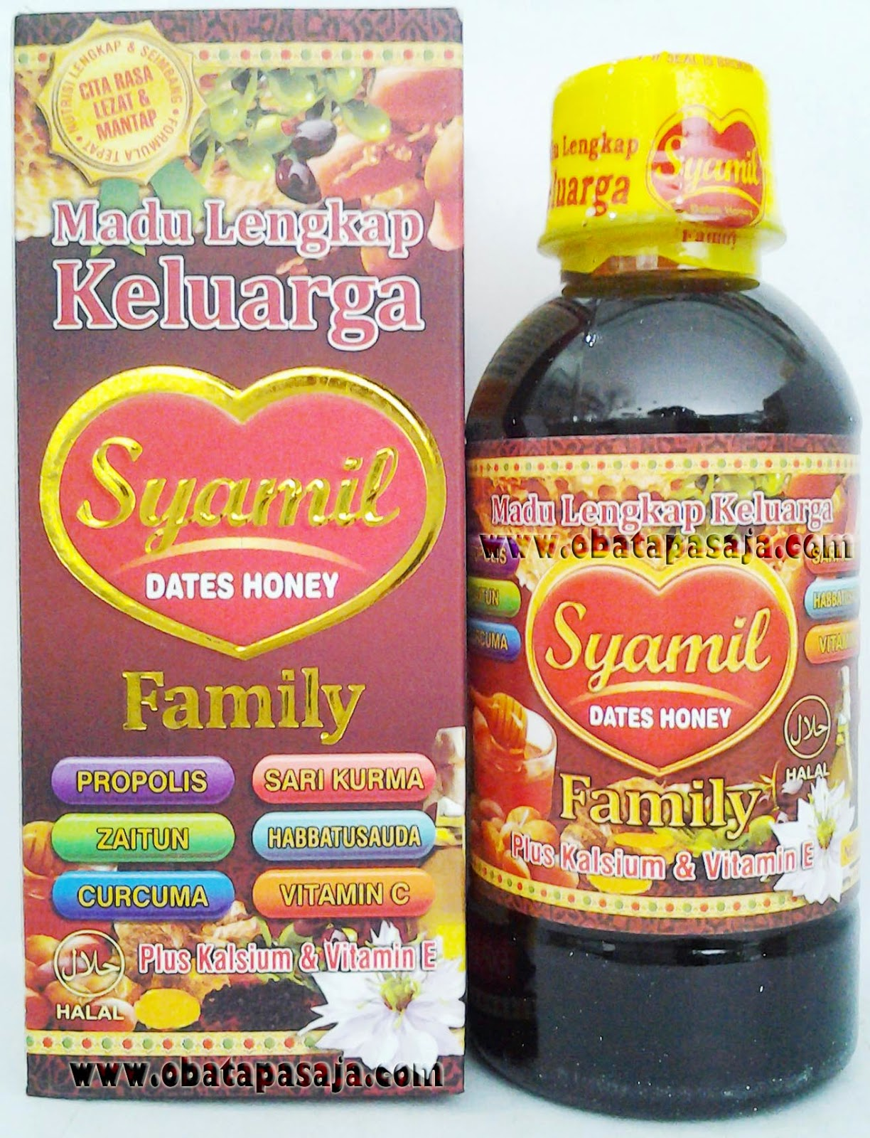 Komposisi dan Harga Madu Syamil Dates Honey Family