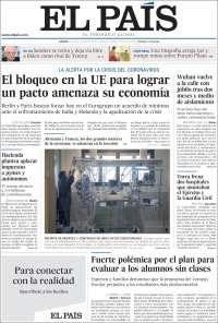 09/04/2020      ESPAÑA UNA  PRIMERA PÁGINA DE LA PRENSA