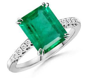 EmeraldRings whitegoldrings gold rings engagementrings goldrings stonerings stonejewellery2528102529 - Emerald Rings