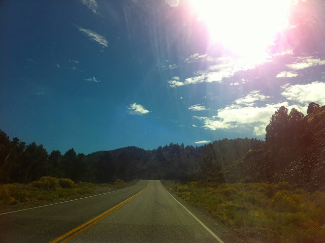 The road to Mammoth Lakes