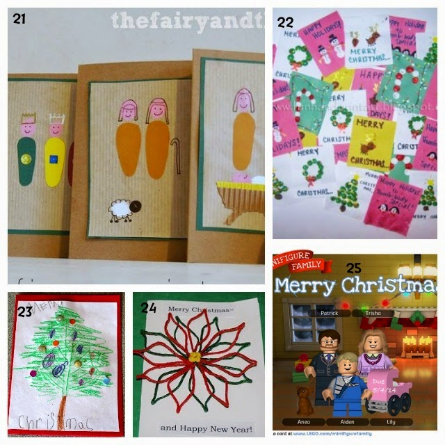 Learn with Play at Home: 25 Christmas Card ideas Kids can ...
