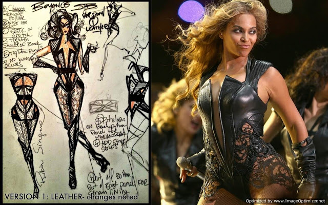 beyonce superbowl leather