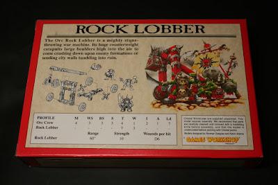 Contraportada de la caja Lanzador de Rocas Orco (Rock Lobber)