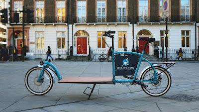 Porterlight Bicycles X Deliveroo - custom London cargo bike