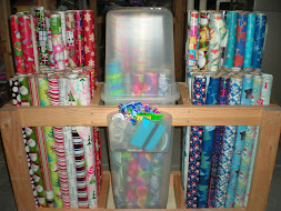 Wrapping Paper Cart