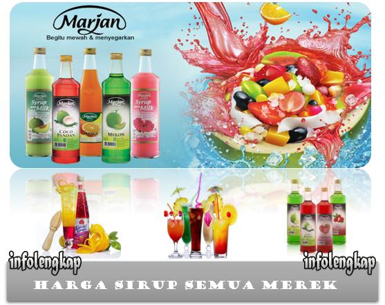 Harga Sirup Marjan, ABC, Sunquick, Indofood, Tjampolai, Monin