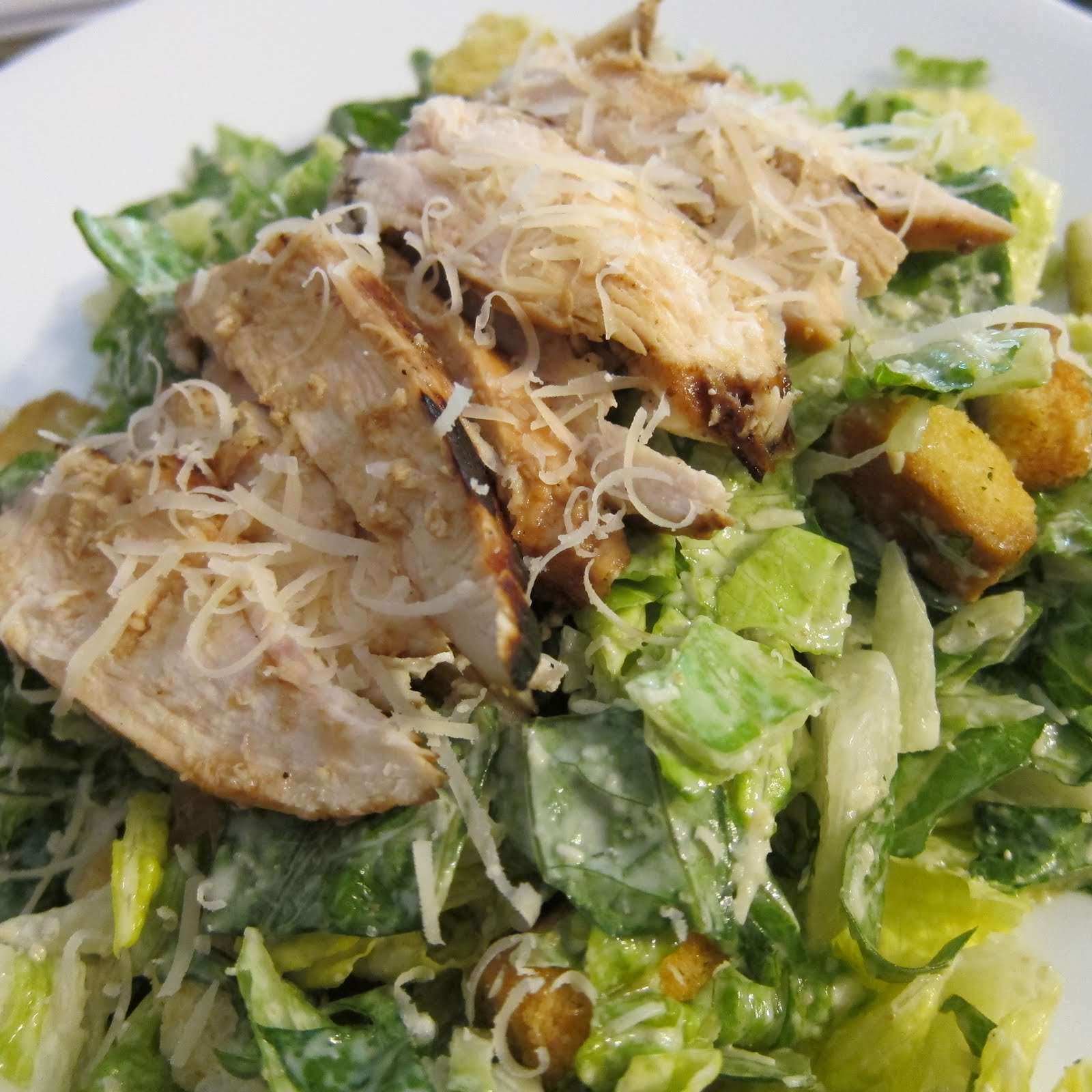 This chicken caesar salad is tasty and filling