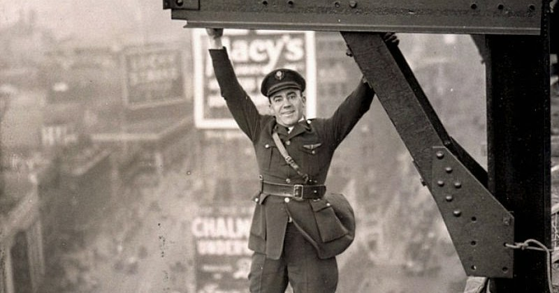 vintage everyday  new york aerial police force stunt  ca  1920