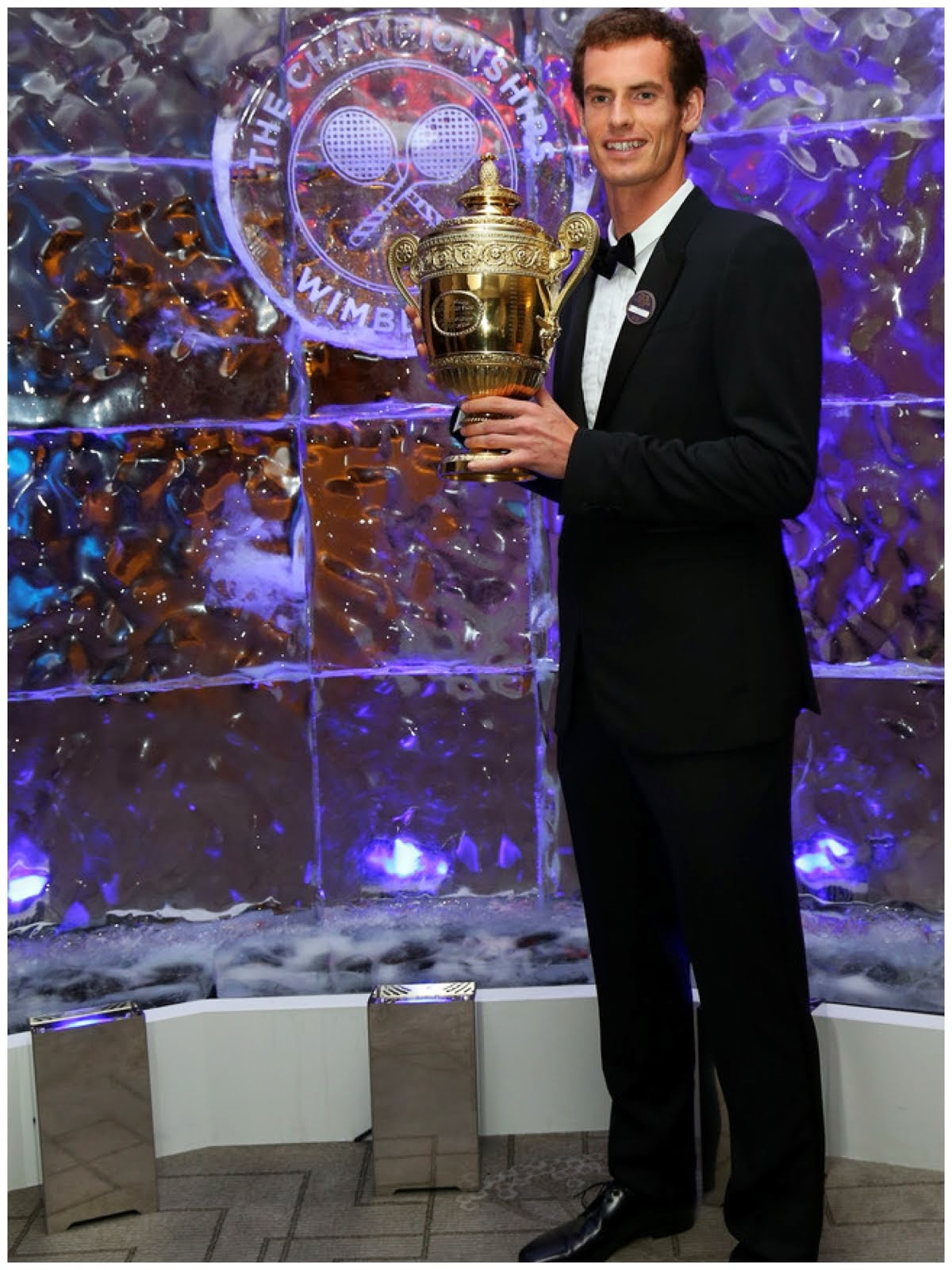 00O00 menswear blog: Andy Murray in Burberry at Champions Dinner 2013
