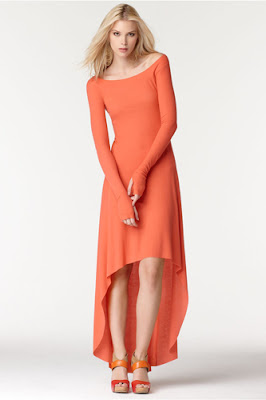 Orange Long Sleeve Maxi Dresses