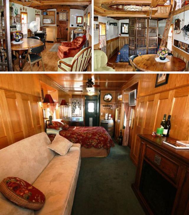 Vagões de trem são reformados e usados como moradia