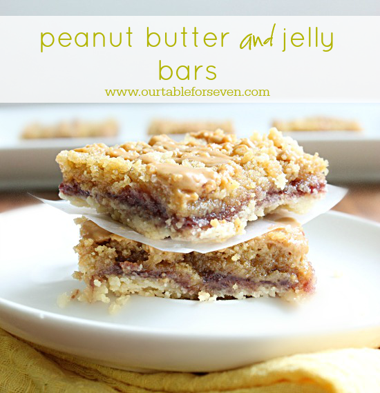 Peanut Butter and Jelly Bars • Table for Seven