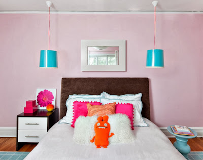 fresh glowing color palette for this trendy girls bedroom to have the youth soul brought back into memories