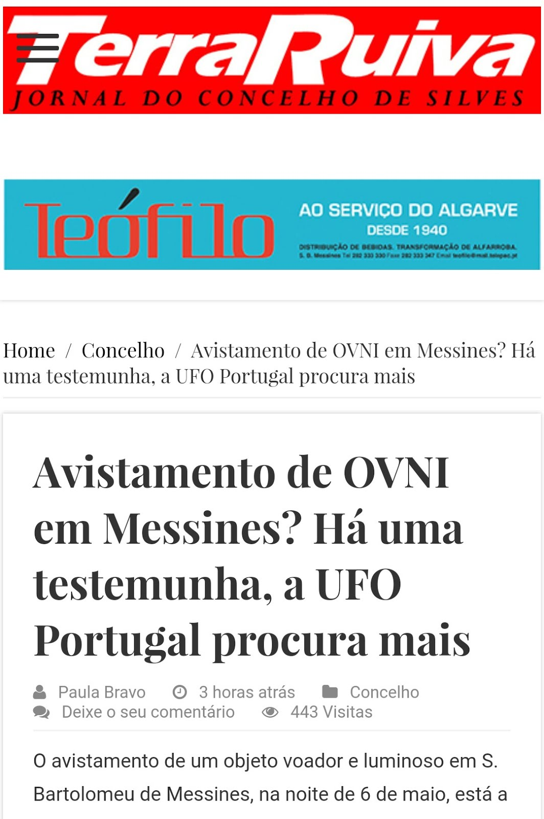 OVNI Messines Algarve