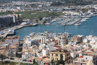Marina district in Ibiza