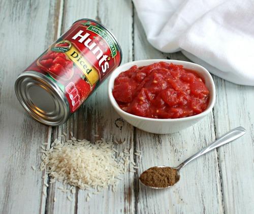 Tomato Rice Chili in a Squash Bowl