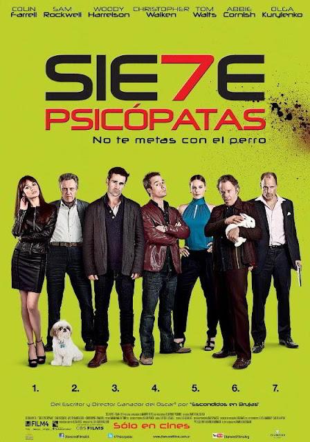 Siete psicópatas DVDRip Español Latino Película 2012