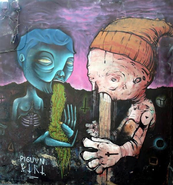 street art santiago de chile barrio yungay barrio brasil arte callejero piguan