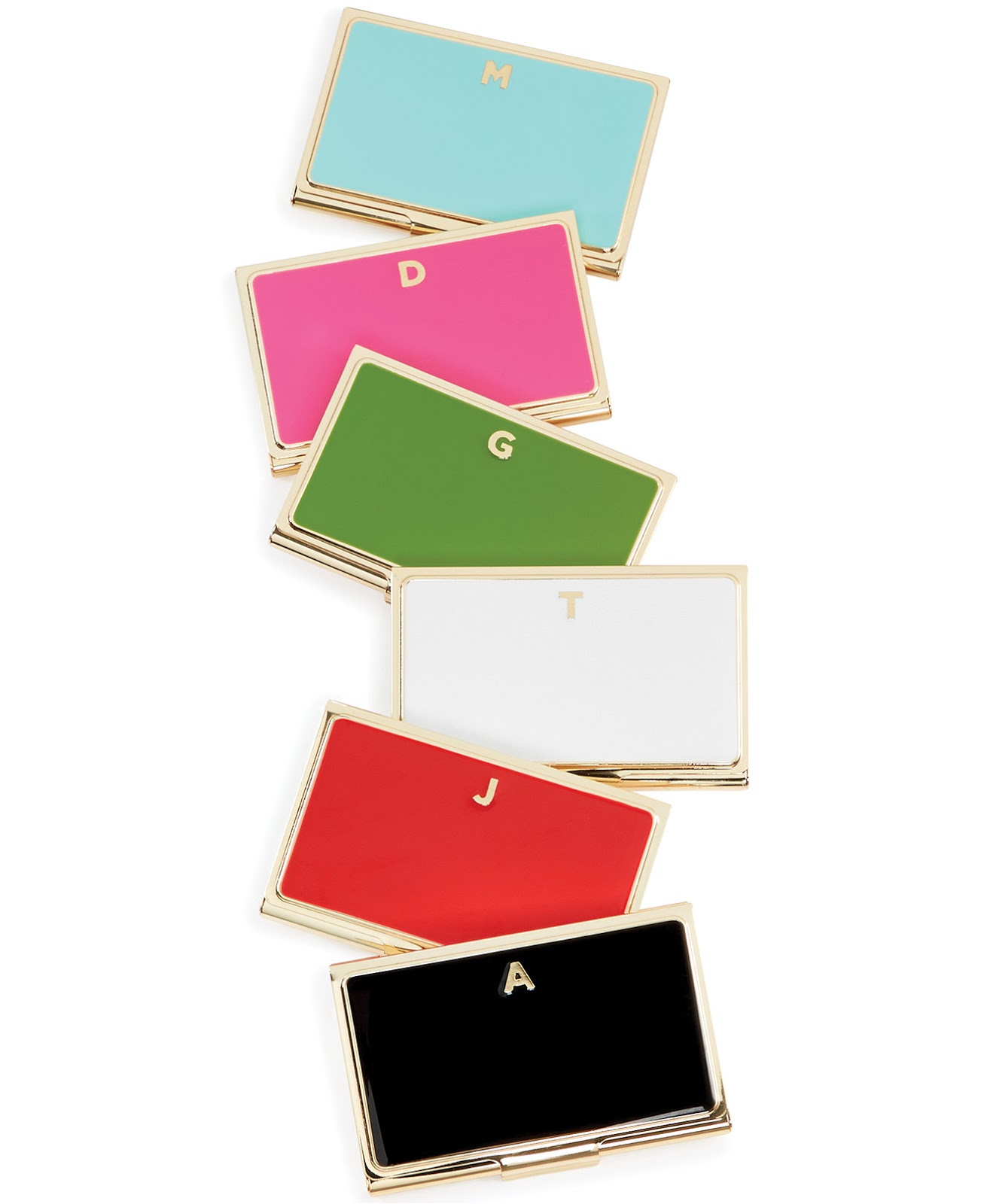 Kate Spade monogrammed business card holders
