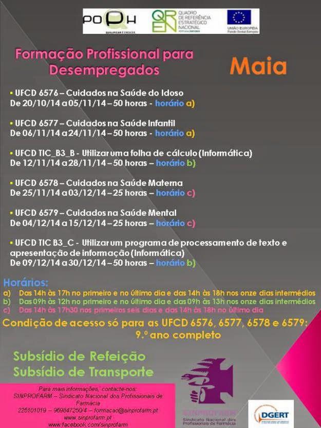 Formação subsidiada para desempregados na Maia