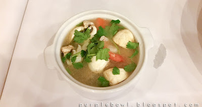 Clear tom yum soup at Nine Elephants