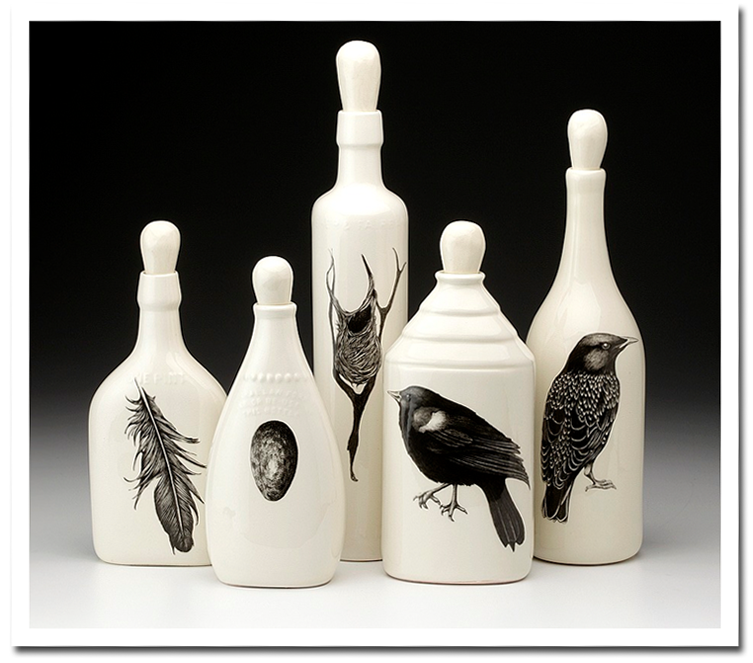Laura Zindel - Bird Bottle Set