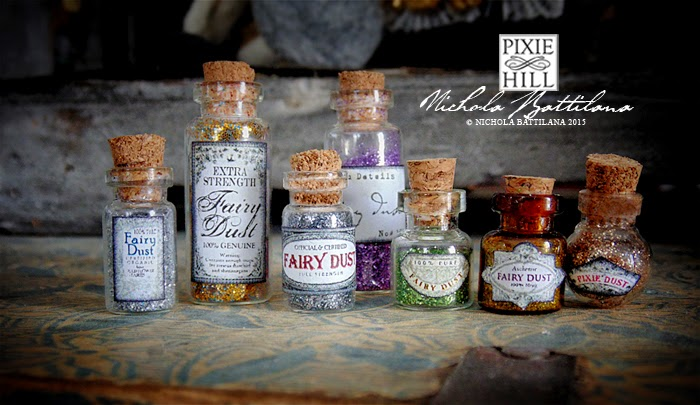 Fairy and Pixie Dust labels for miniature vials - Nichola Battilana
