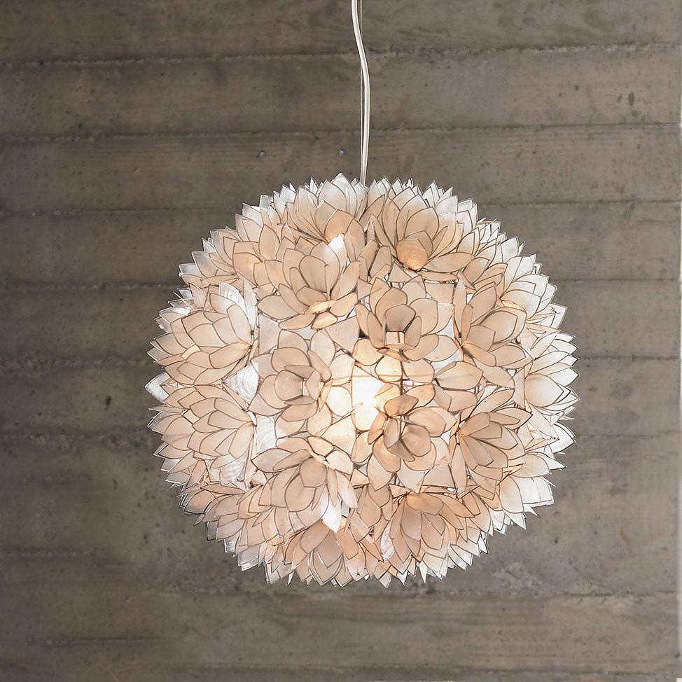 Modern interior design capiz shell chandelier whitesmoke capiz shell chandelier whitesmoke chandeliers lotus flower arubaitofo Gallery