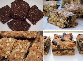 Various of Oat chocolate bars with butter