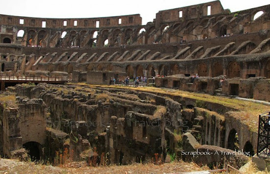 Interiors of the Colosseum Rome Italy