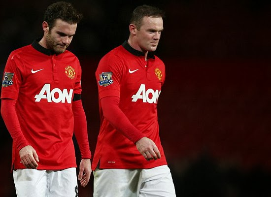 Juan Mata and Wayne Rooney Manchester United 2014