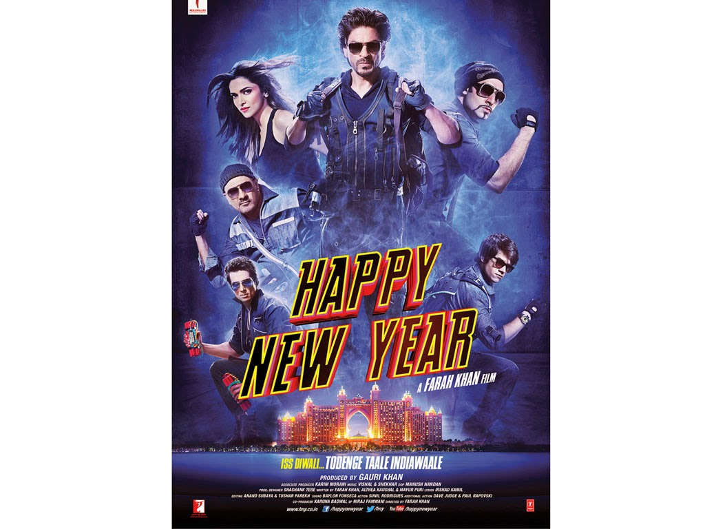 Movie happy new year 2014 final poster (Actor and Actress Hd Wallpaper)