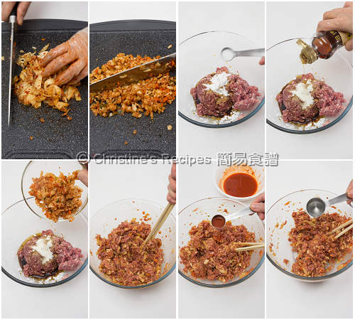 泡菜餃子製作圖 Kimchi Dumplings Procedures01