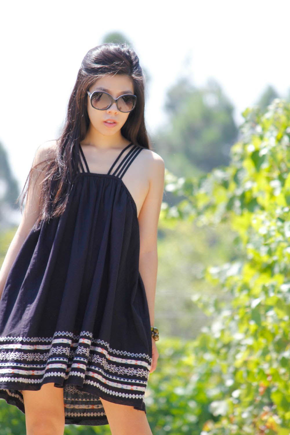 What to Wear to Coachella - Black Boho Dress