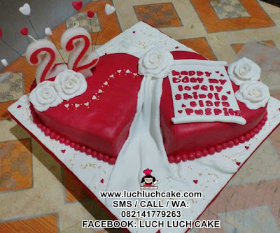 Kue Tart Love Romantis (REPEAT ORDER)
