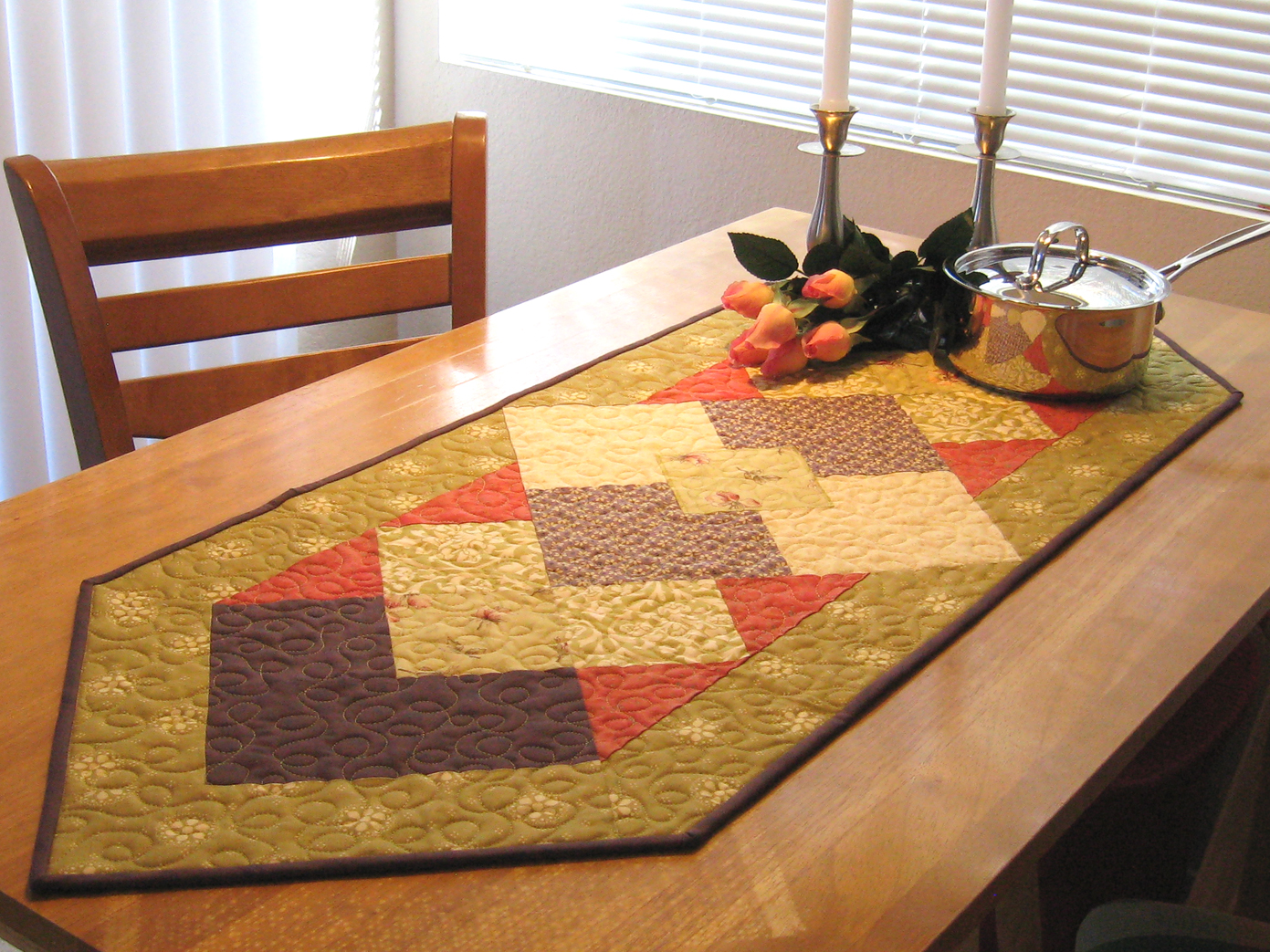 free fall table runner patterns to sew