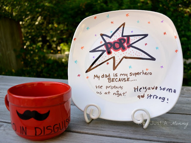 Father's Day DIY sharpie plate
