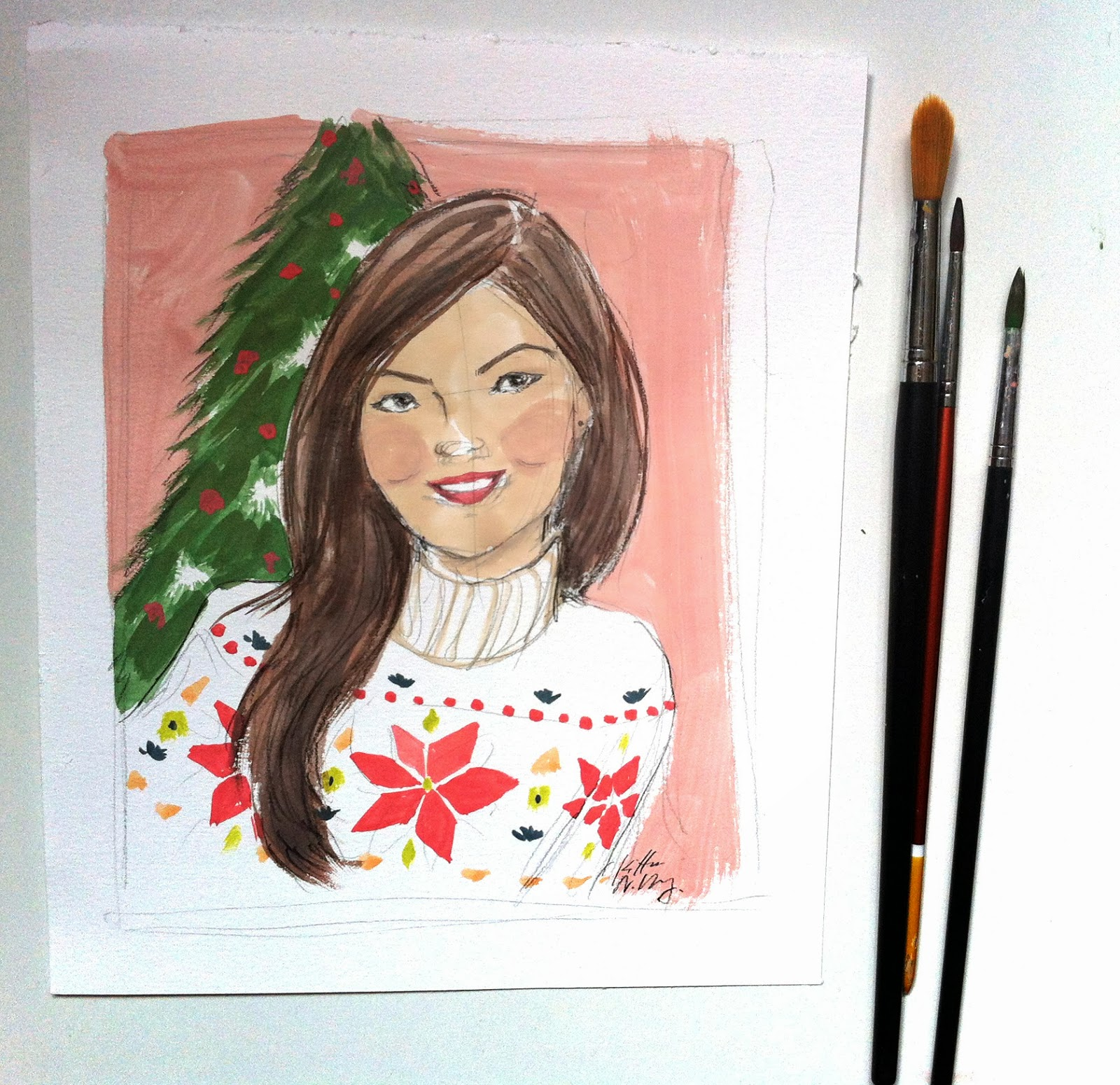 Kitty N. Wong / quick christmas portrait