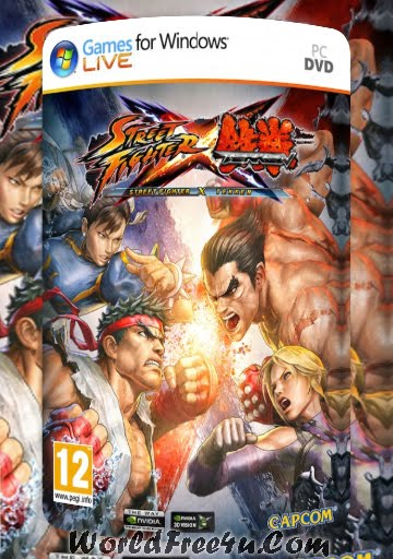 Cover Of Street Fighter X Tekken Full Latest Version PC Game Free Download Mediafire Links At worldfree4u.com