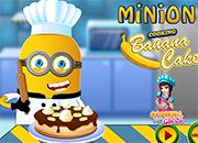 Minion Cooking Banana Cake