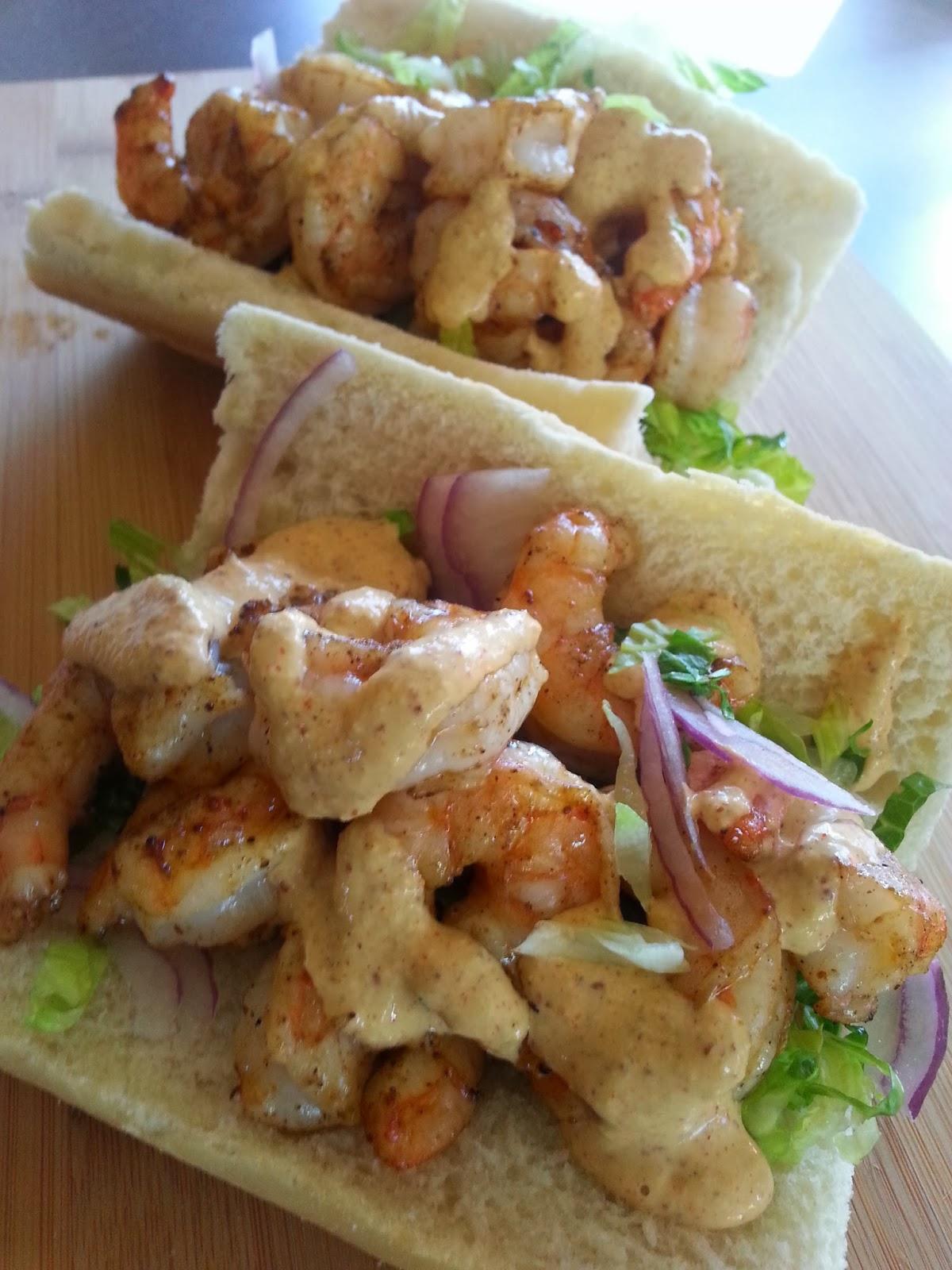 Shrimp and more Shrimp (Grilled Shrimp Po'boys with Remoulade