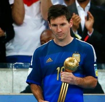 Lionel Messi Pemain Terbaik Piala Dunia 2014